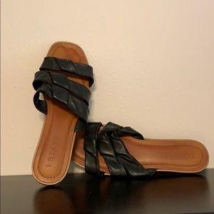 Black 1 state sandals